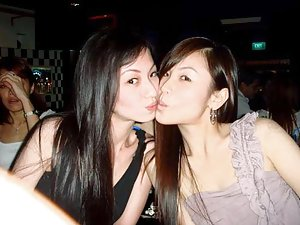 lesbians busty Xhamster asian hairy